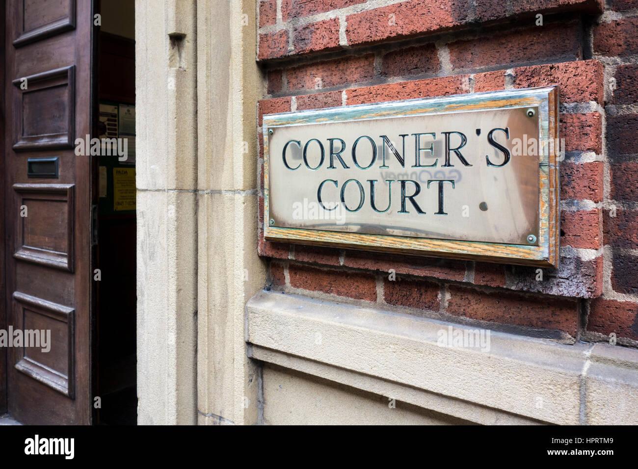Birmingham cour du coroner. Birmingham, UK Banque D'Images