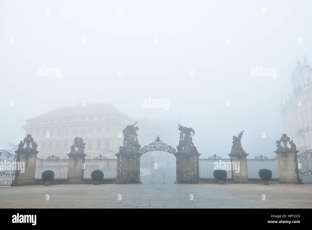Le Château de Prague, République Tchèque Photo Stock