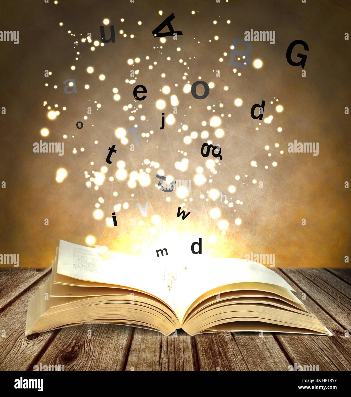 livre de magie Photo Stock