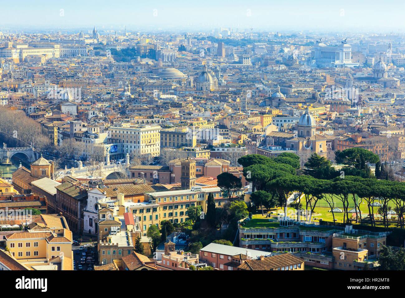 Toits de la ville de Rome, Italie Photo Stock