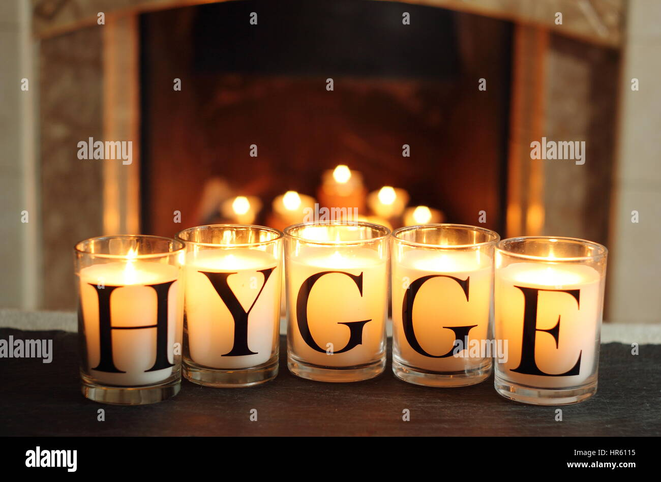 Bougie De L Avent Danoise hygge candles photos & hygge candles images - alamy