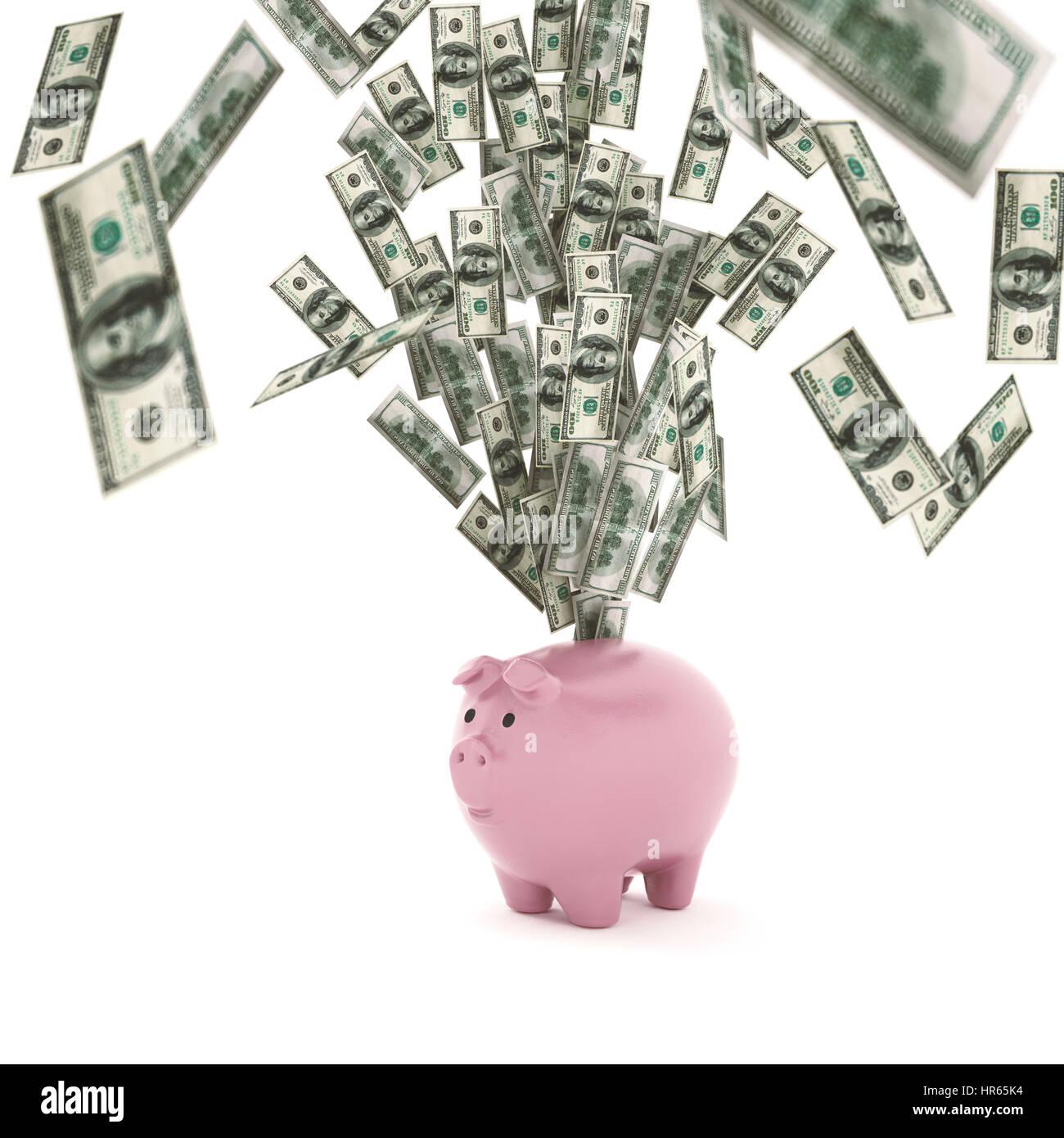 La richesse économique rendu 3D concept Photo Stock
