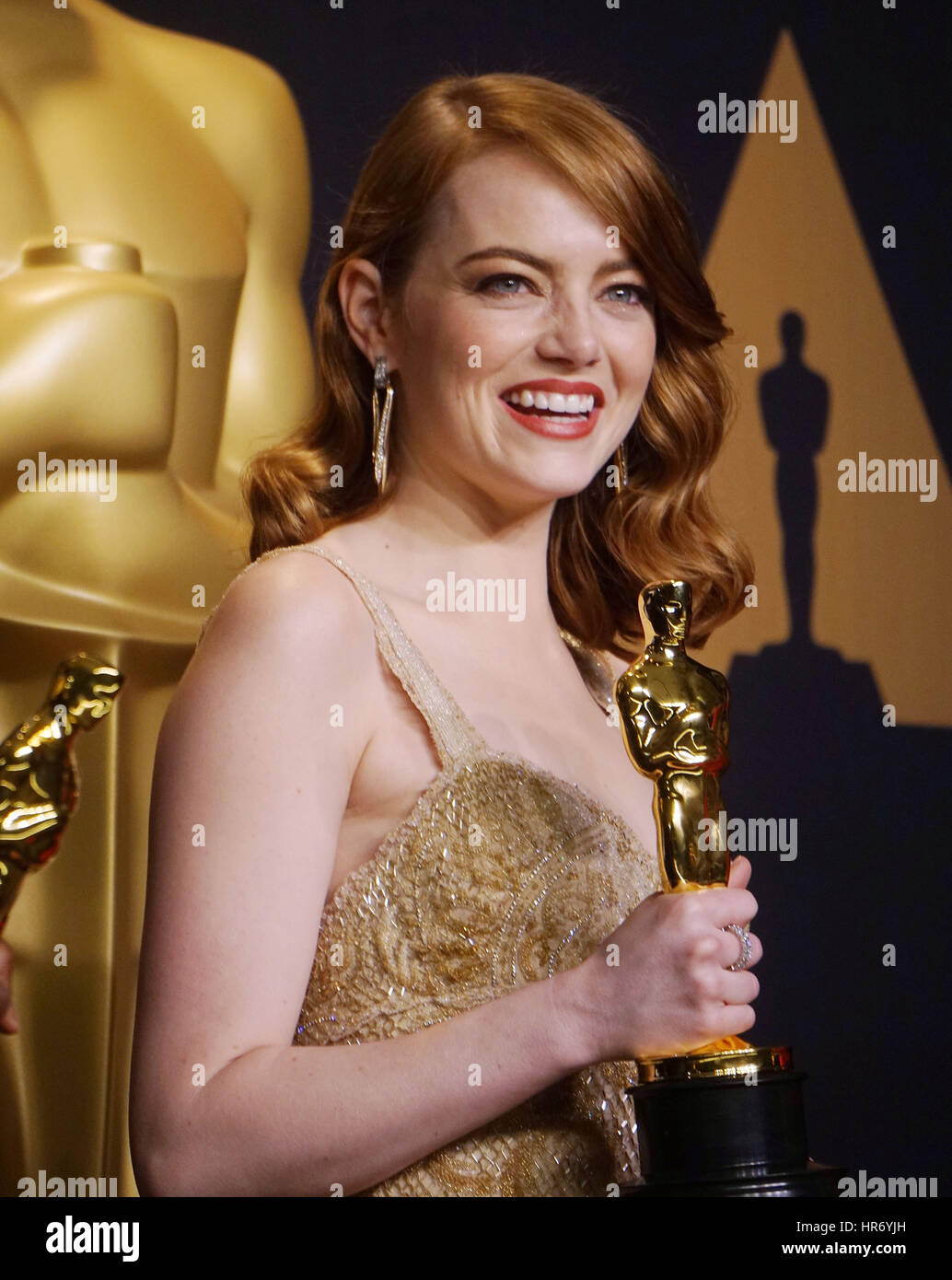 Emma Stone 305 89e Academy Awards (Oscars), salle de presse au Dolby Theatre de Los Angeles. Le 26 février Photo Stock