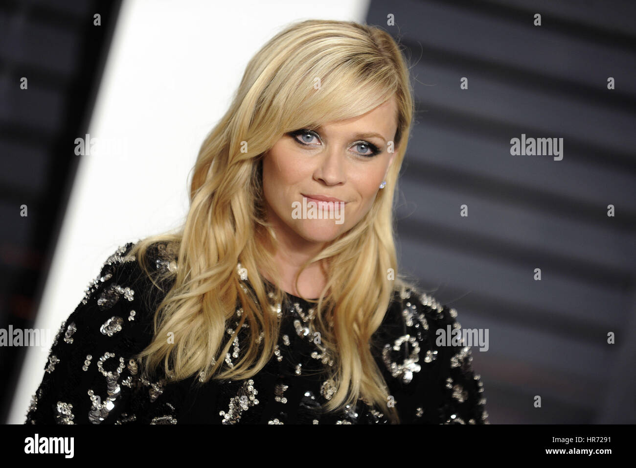 Beverly Hills, Californie. Feb 26, 2017. Reese Witherspoon fréquente l 2017 Vanity Fair Oscar Party hosted Photo Stock