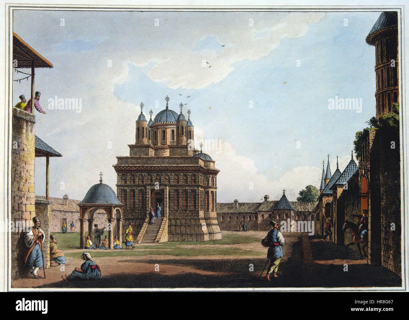 W. Watts - Eglise et couvent de Saint Mary Banque D'Images