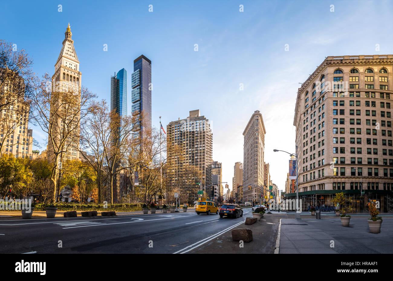 Bâtiments autour de Madison Square Park - New York City, USA Photo Stock