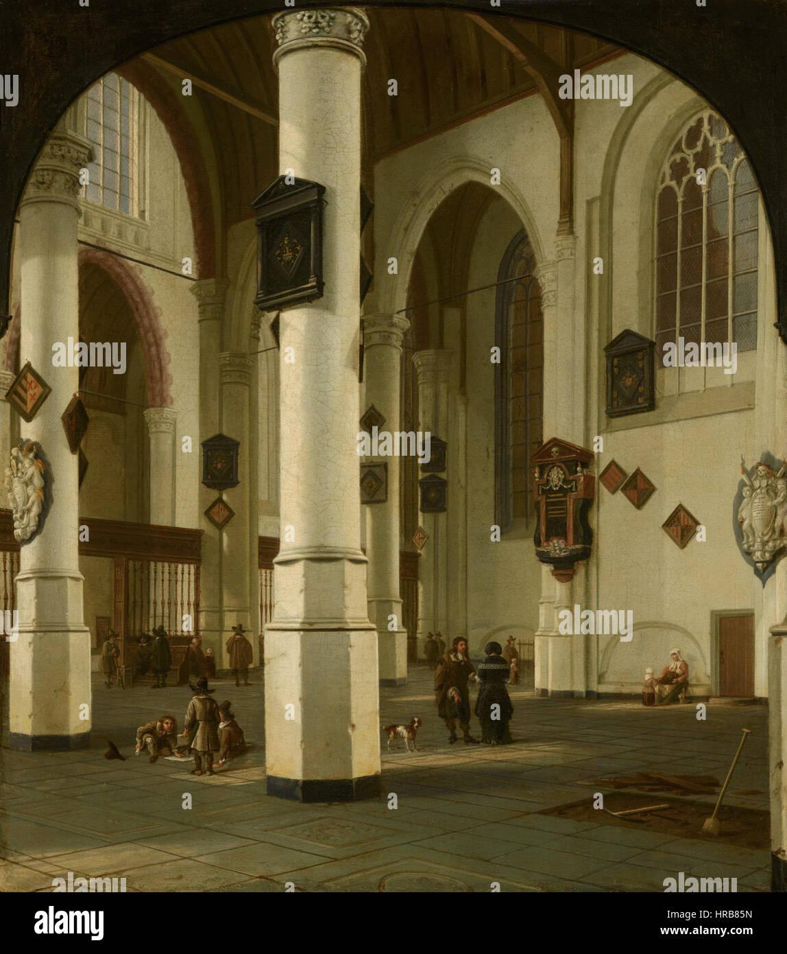 intrieur de la oude kerk delft par hendrick van vliet 203 mauritshuis