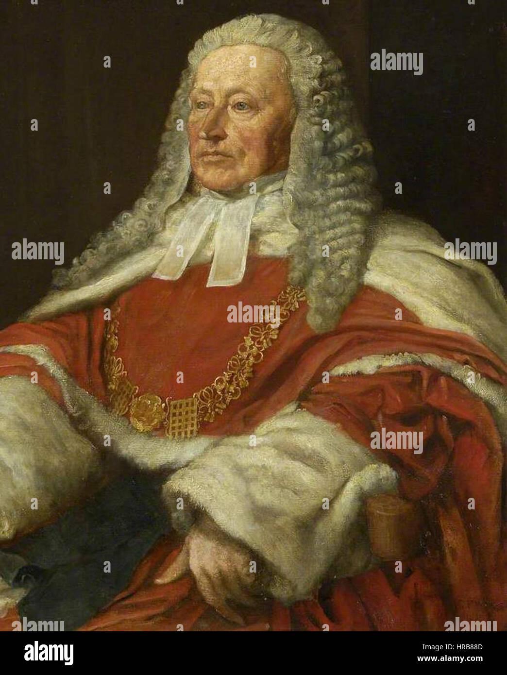 Sir Alexander Cockburn LCJ par GF Watts Banque D'Images