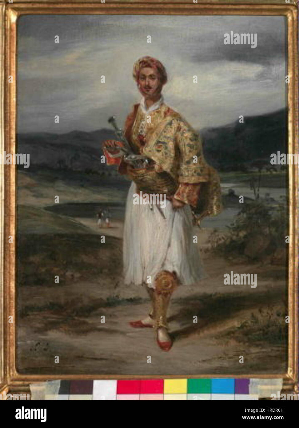 Eugène Delacroix 1798-1863 - Hrabe Palatiano kroji reckem v Banque D'Images