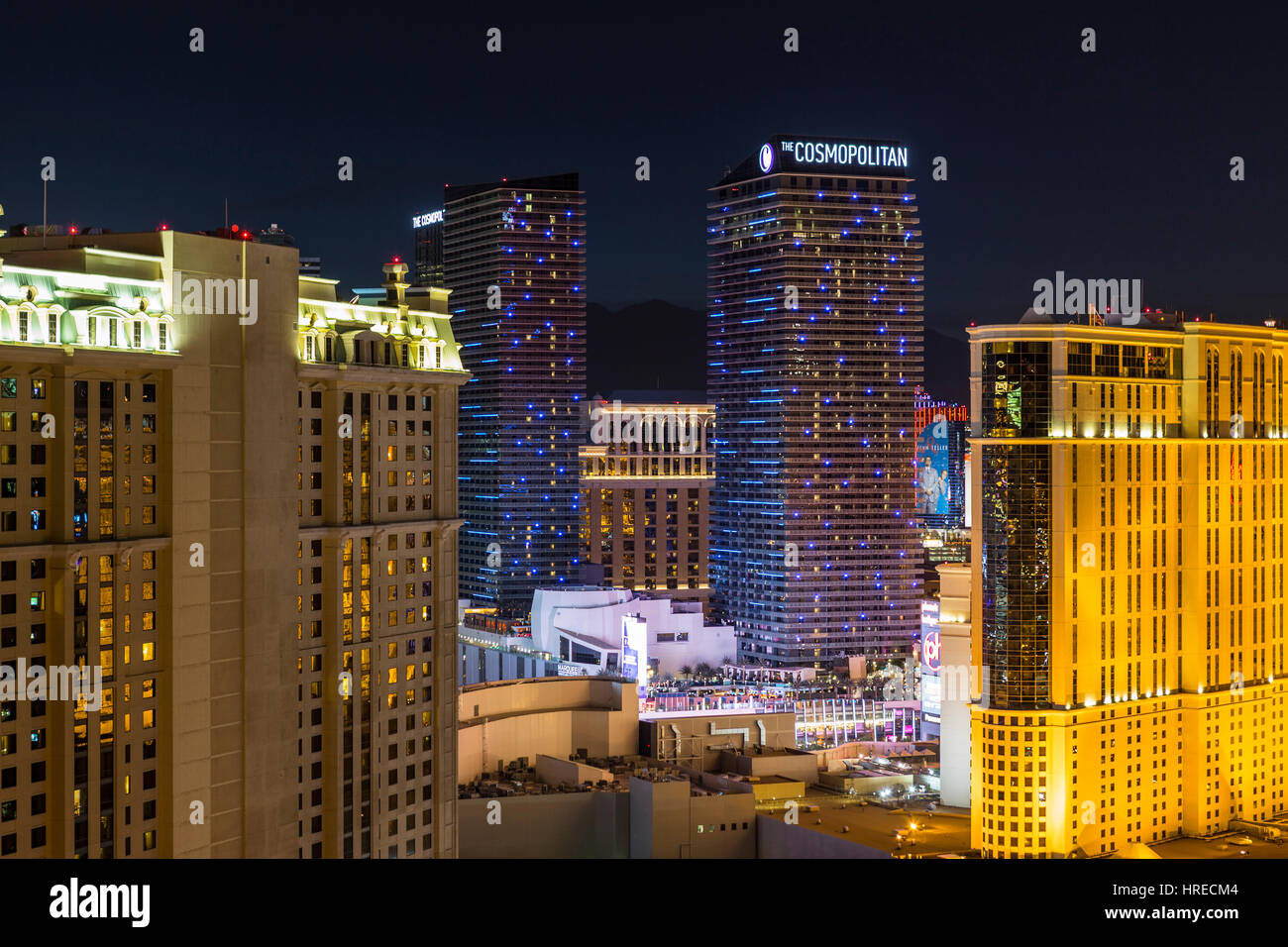 Las Vegas, Nevada, USA - Le 23 mars 2015 et les autres : Cosmopolitan Las Vegas strip resort towers dans la Photo Stock