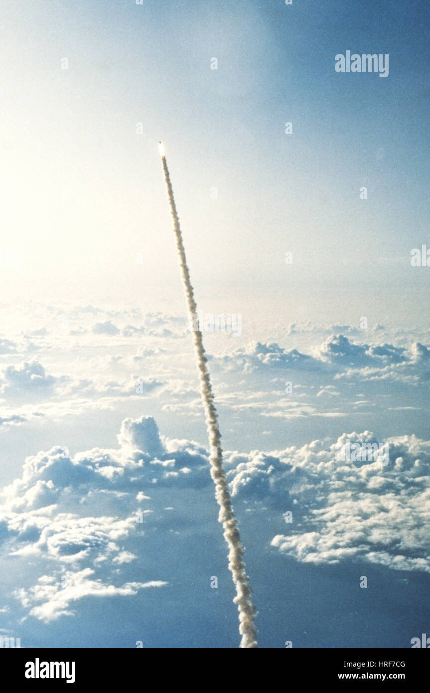 STS-7, la navette spatiale Challenger, 1983 Photo Stock