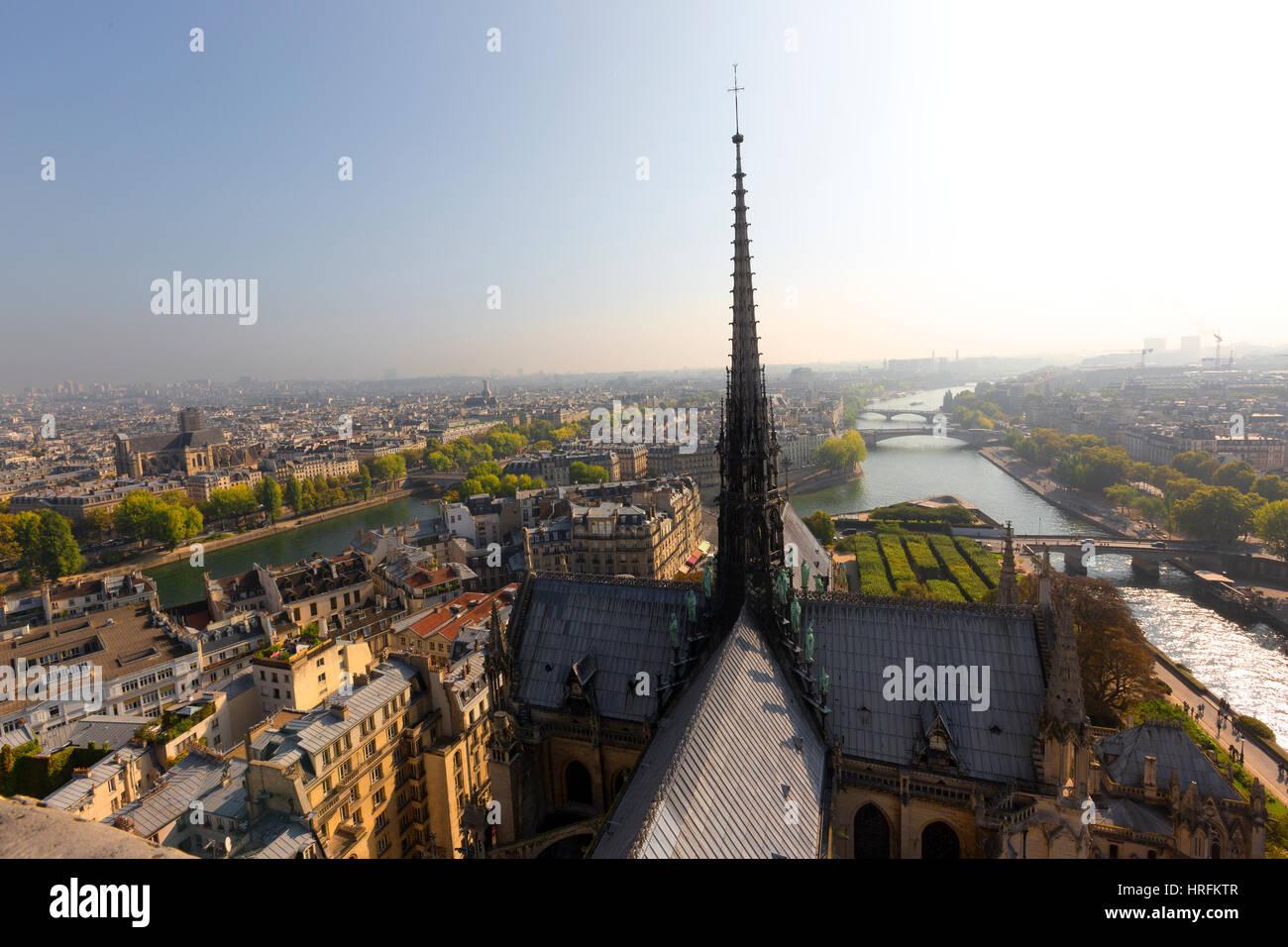 Notre Dame, Ile de villes, Paris, France Photo Stock