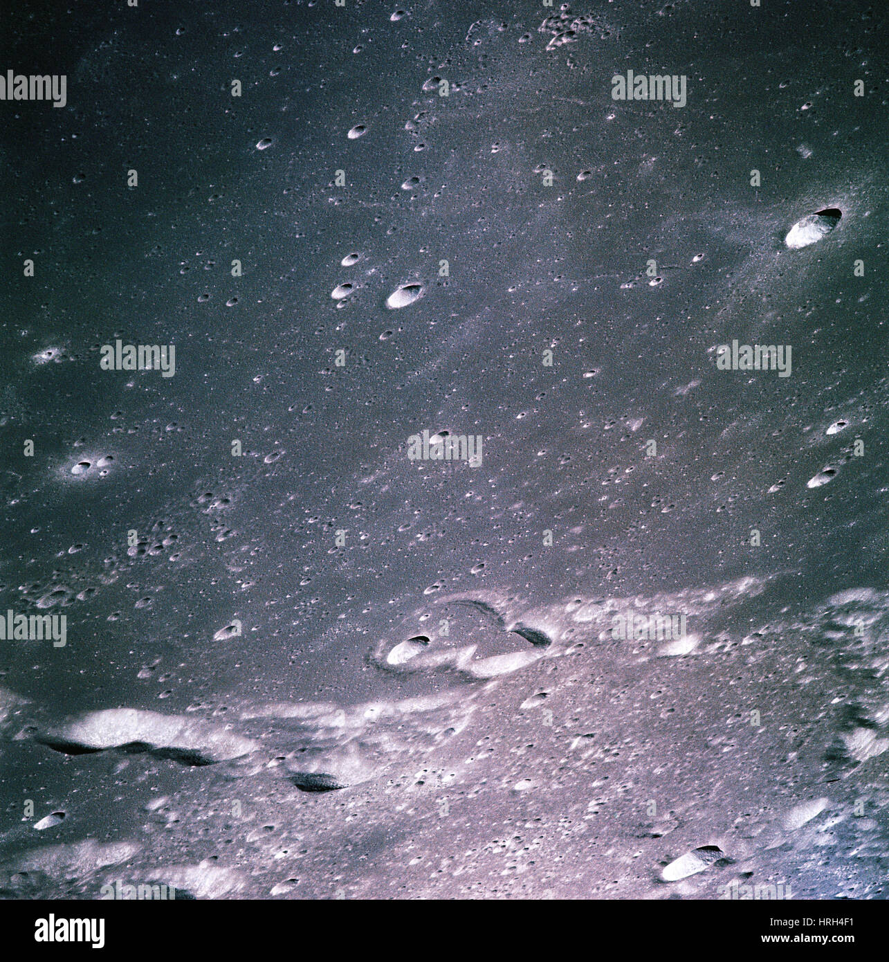 La lune d'Apollo 14 Photo Stock