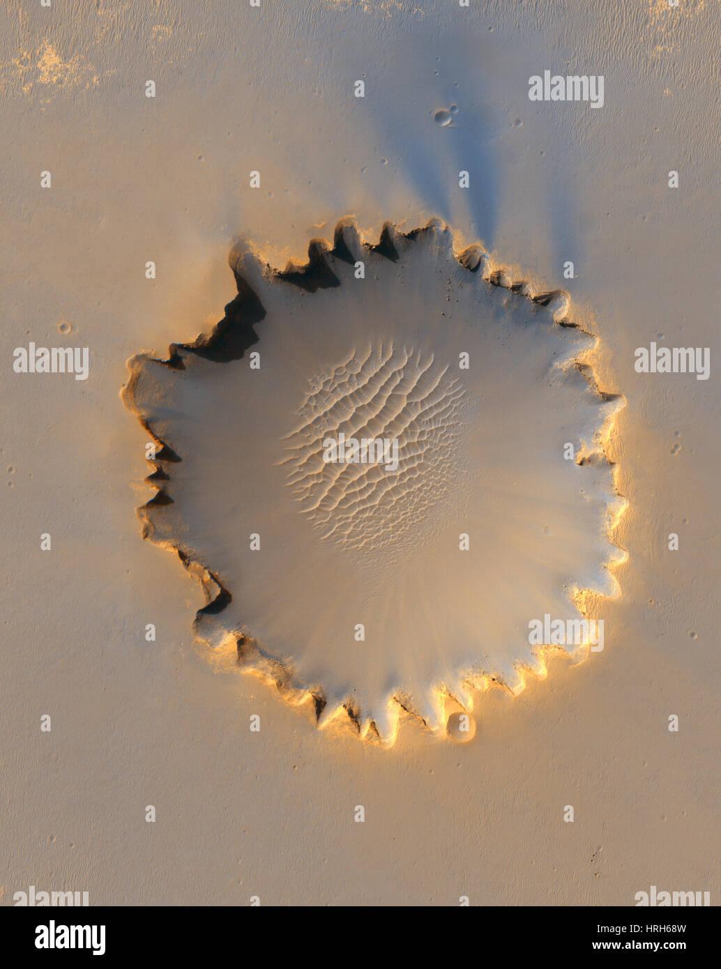 Le cratère Victoria, Mars Photo Stock