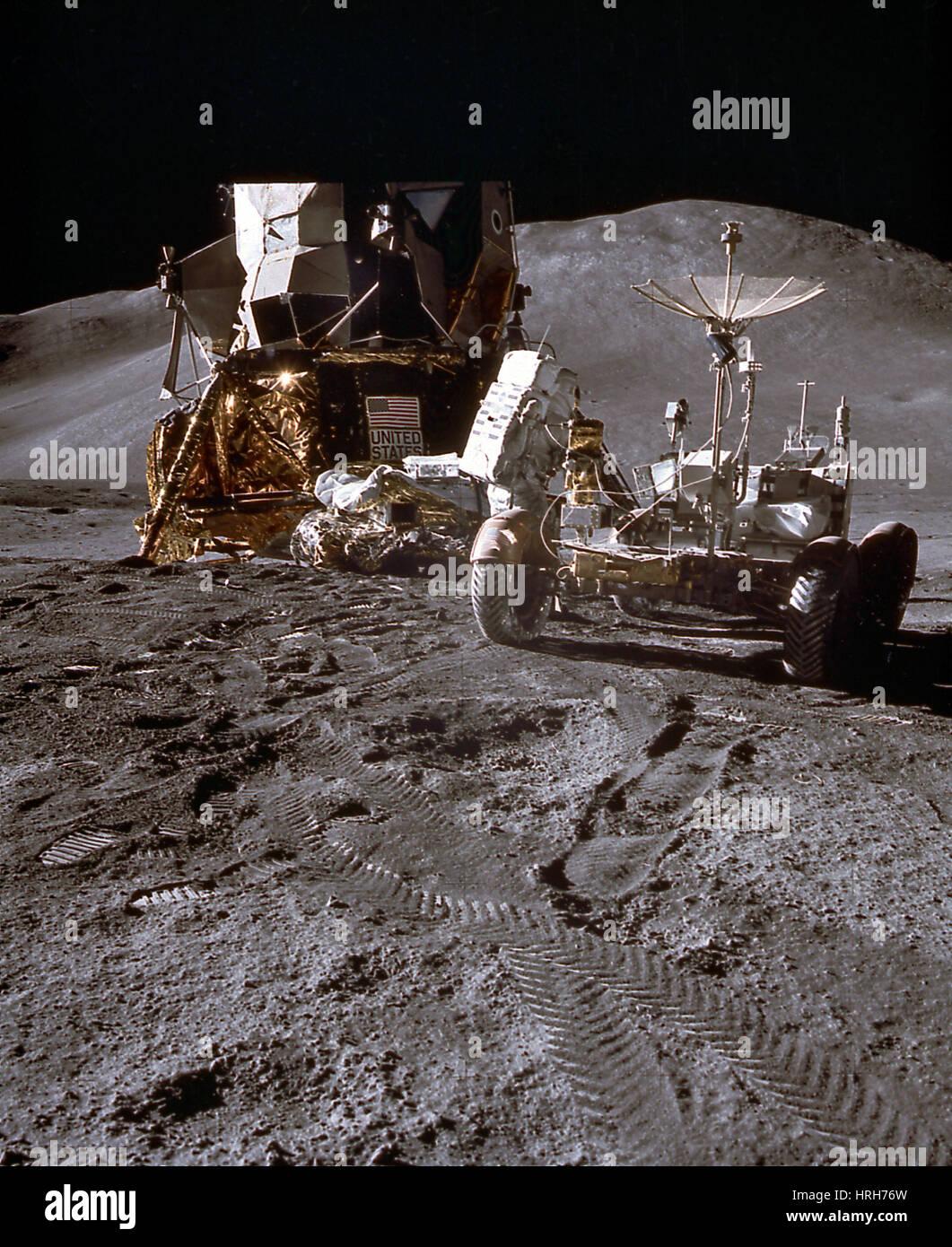Apollo 15 Lunar Rover Photo Stock