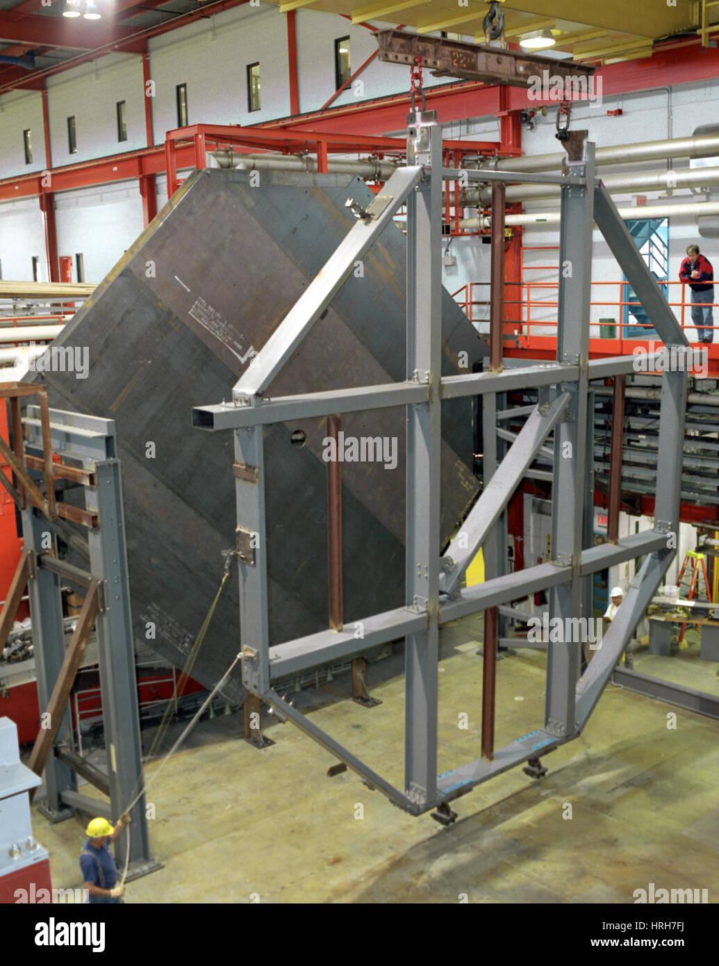 Plaque en acier pour détecteur Minos Photo Stock