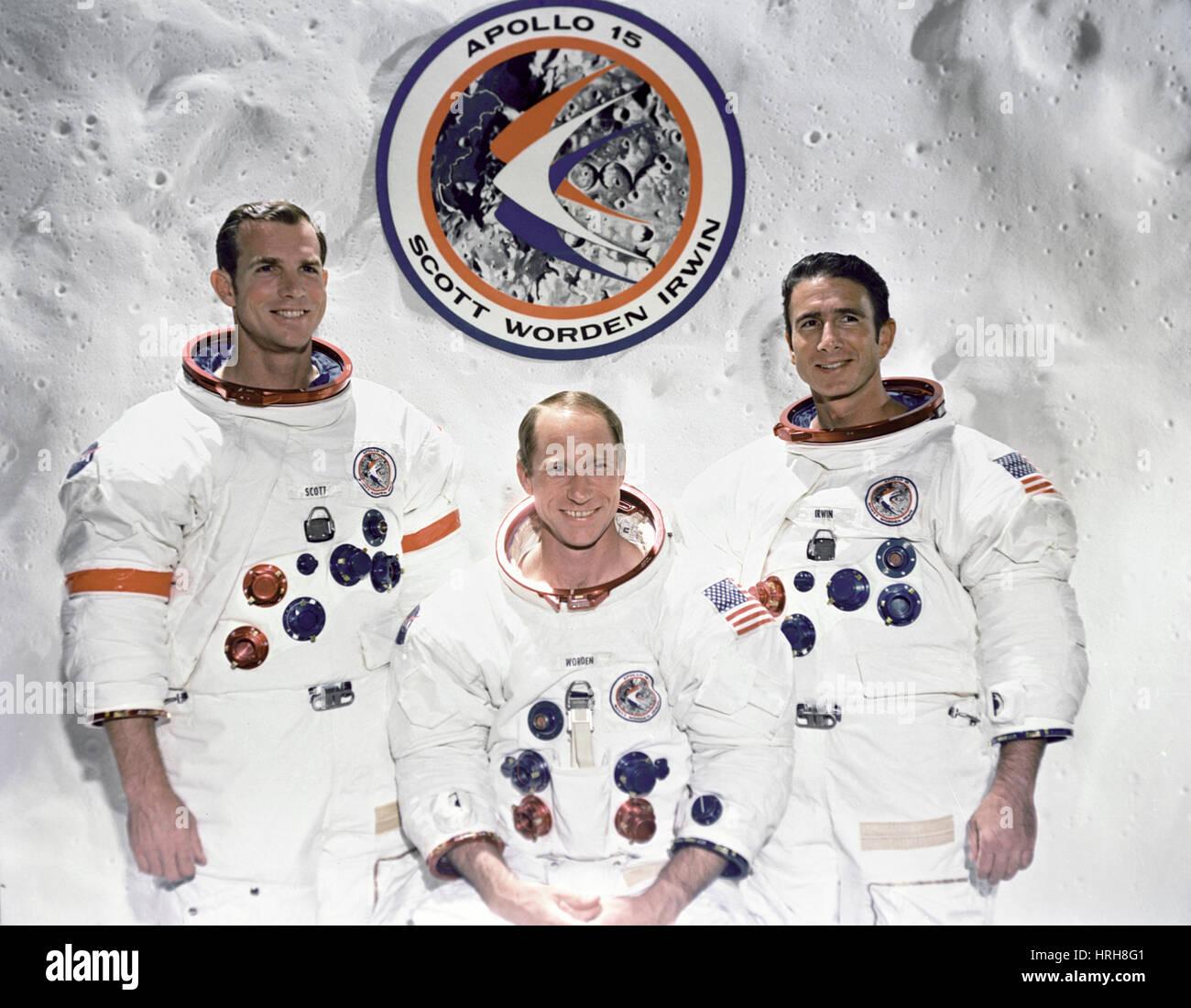 Équipage d'Apollo 15 Photo Stock