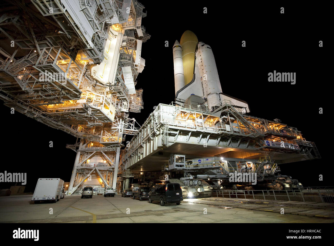 STS-131, la navette spatiale Discovery, 2010 Photo Stock