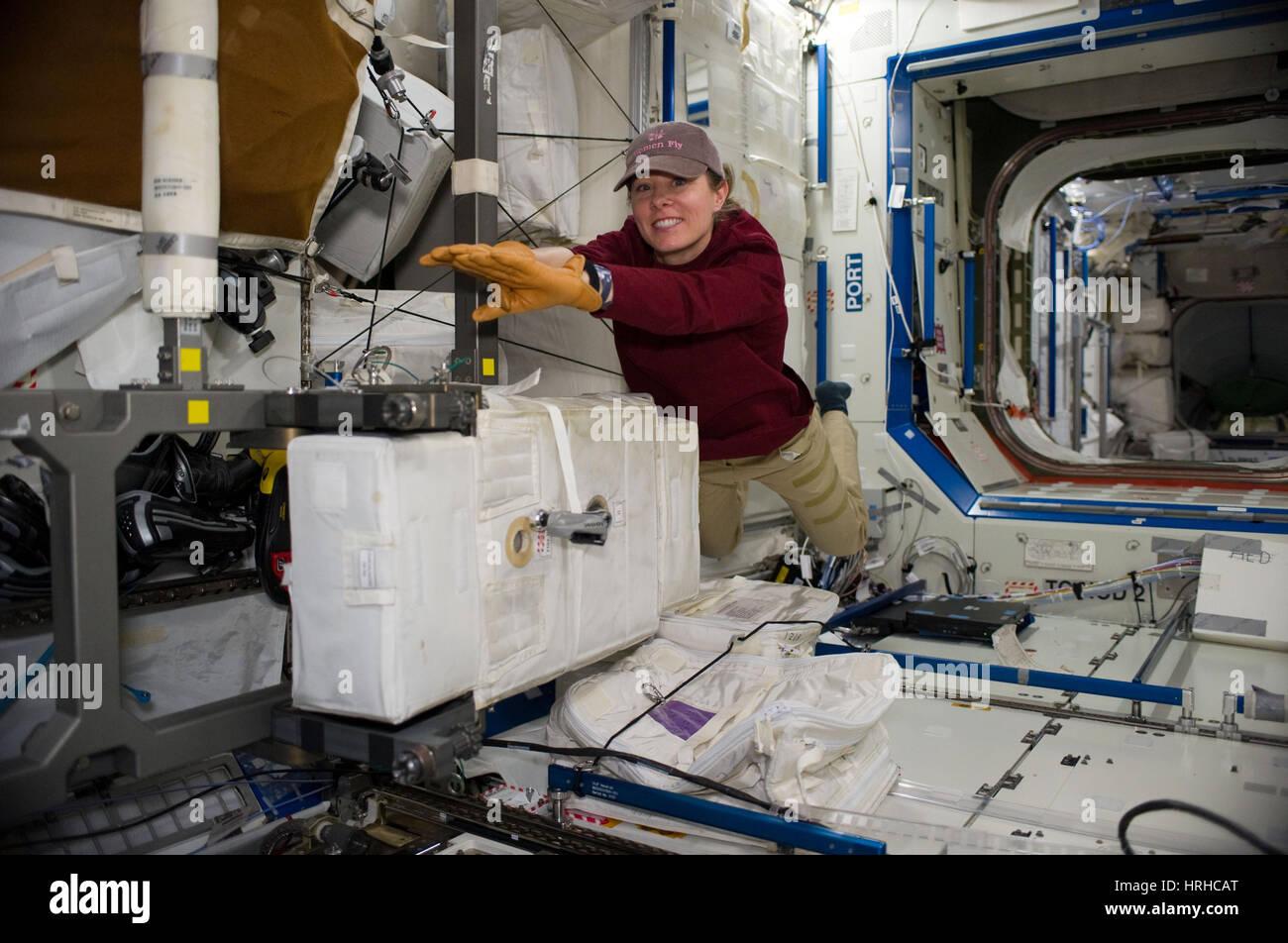 STS-131, l'astronaute Dyson, 2010 Photo Stock