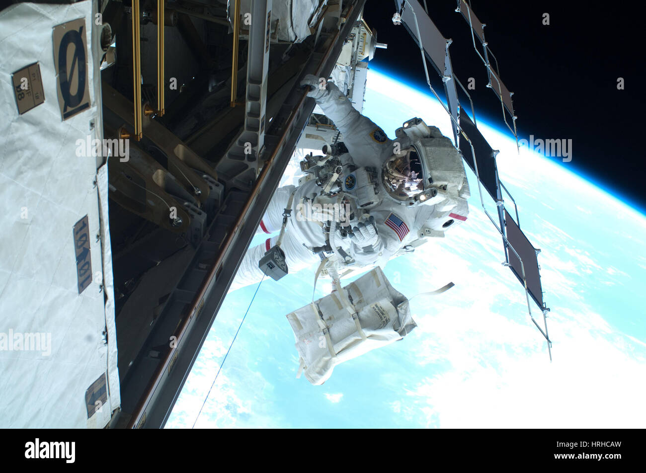 Dans l'espace, I.S.S Photo Stock