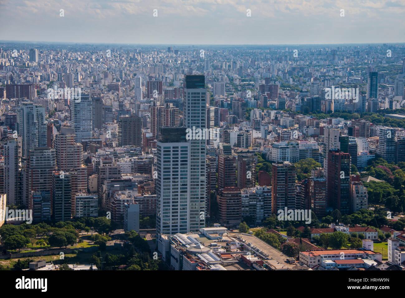 Vue aérienne de Buenos Aires, Argentine Photo Stock
