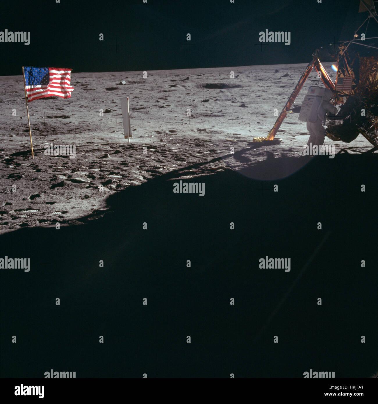 Neil Armstrong, l'astronaute d'Apollo 11, LM Banque D'Images