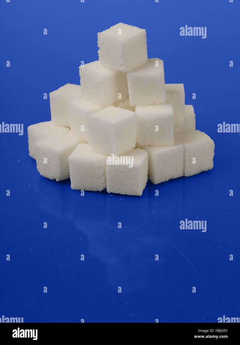 Le sucre en cubes Photo Stock
