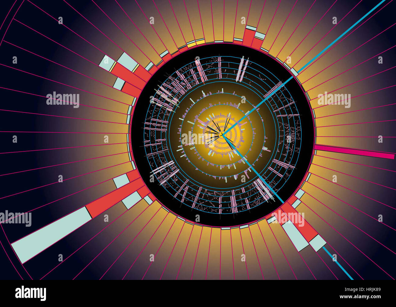 Quark Top Événement, 1997 Photo Stock