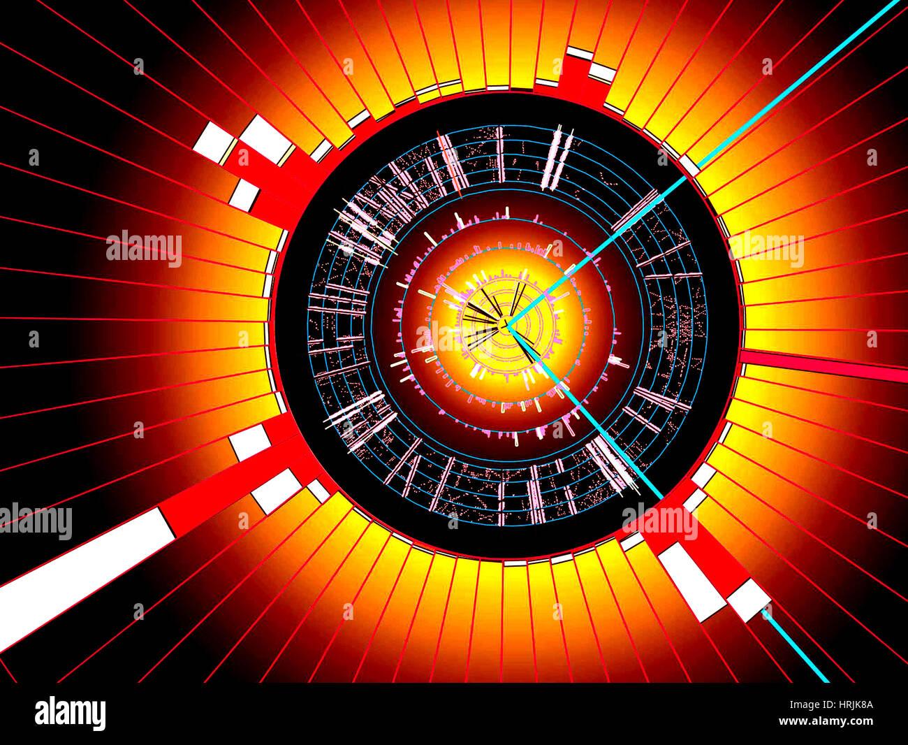 Événement du Quark Top Photo Stock