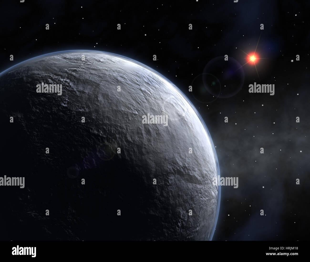 Exoplanète OGLE-2005-BLG-390lb Photo Stock