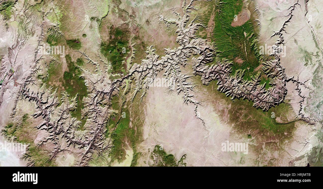 Grand Canyon, Landsat 8 Photo Stock