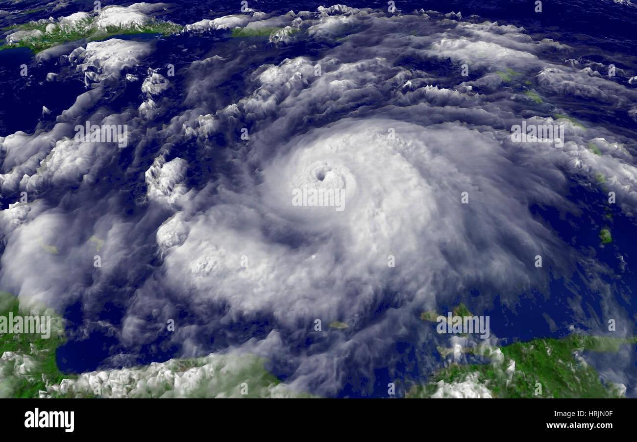 L'ouragan Emily, 2005 Photo Stock