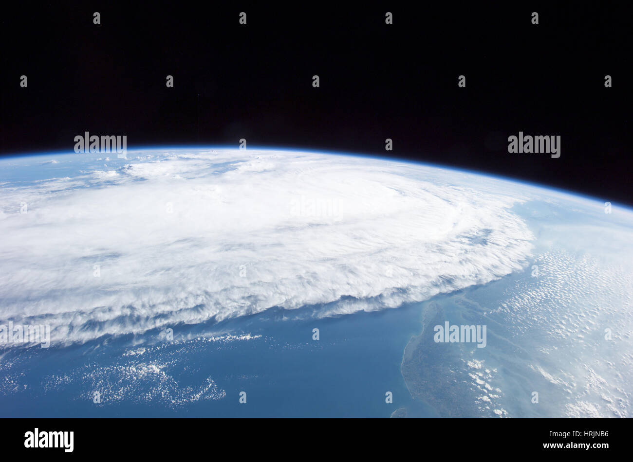 L'ouragan Ophelia, ISS Image, 2005 Photo Stock