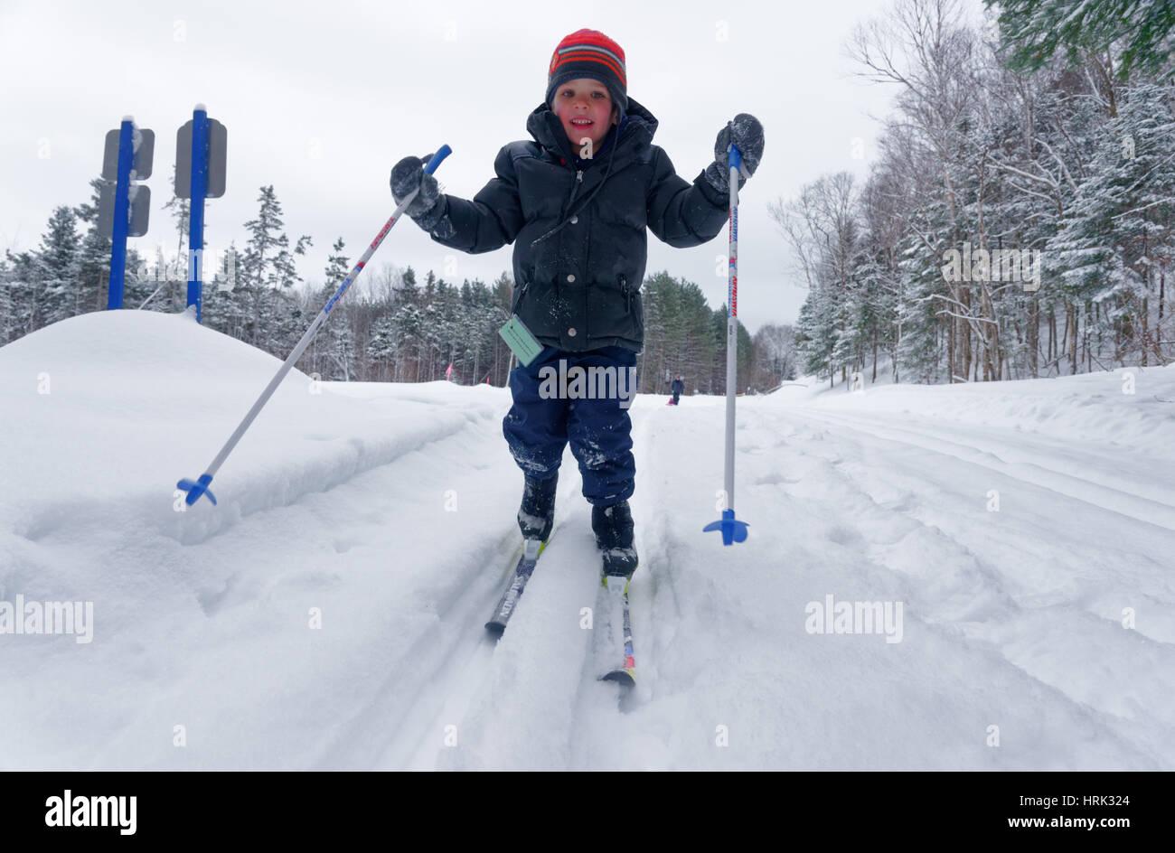 Ski de fond a 4 ans