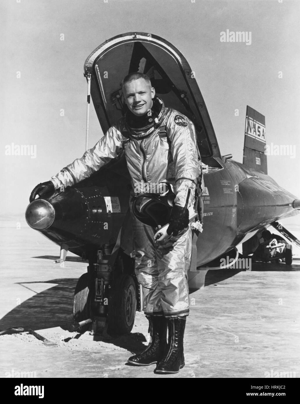 L'astronaute américain Neil Armstrong, Banque D'Images