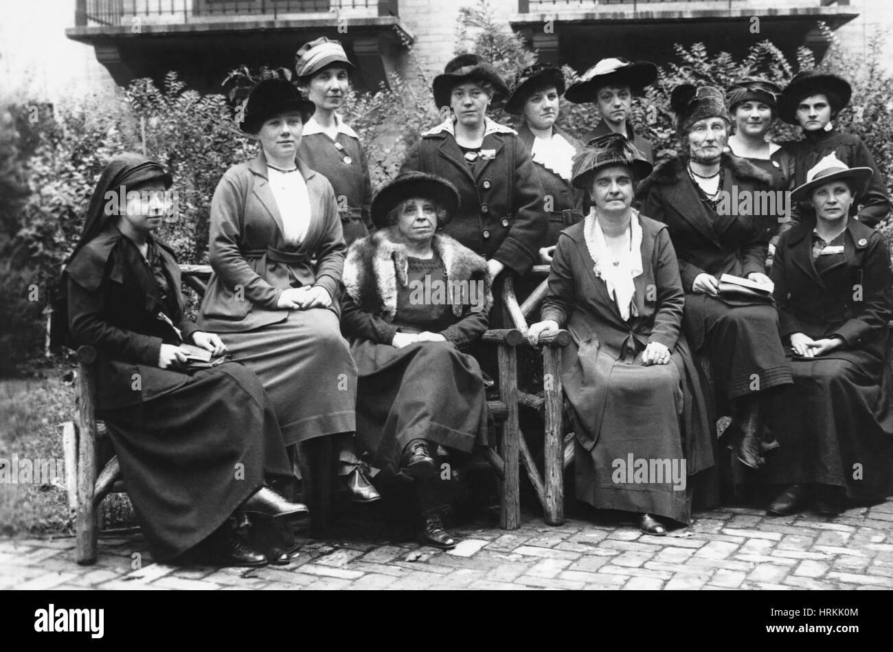 Les suffragettes du 19e siècle Photo Stock