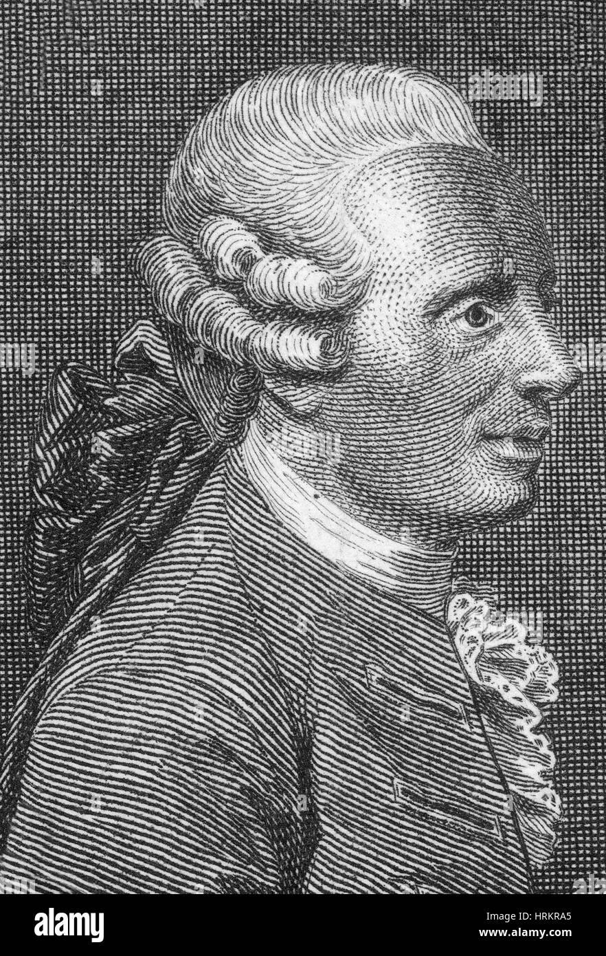Jean Le Rond d'Alembert, mathématicien français Photo Stock