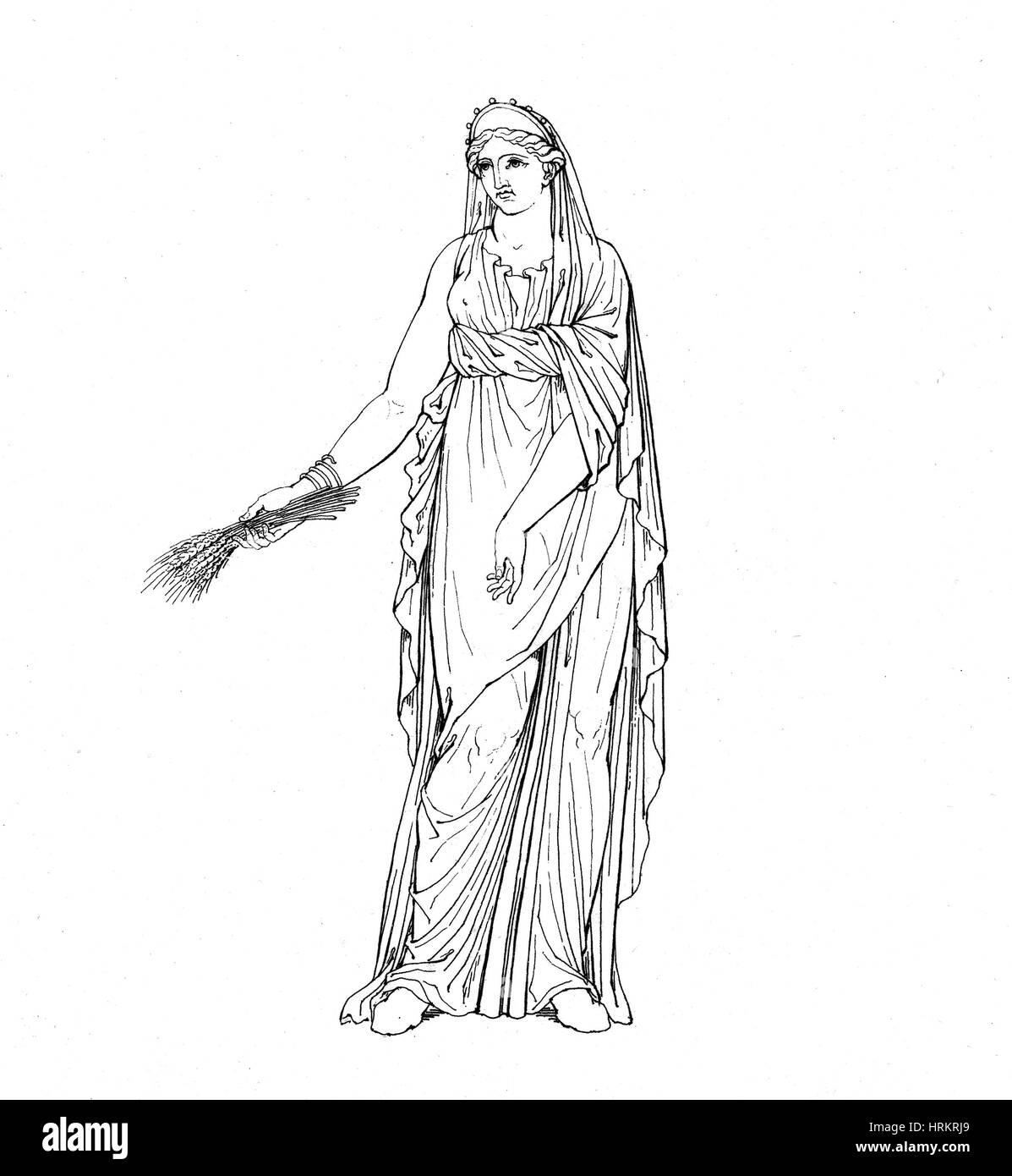 Cérès, déesse romaine Photo Stock