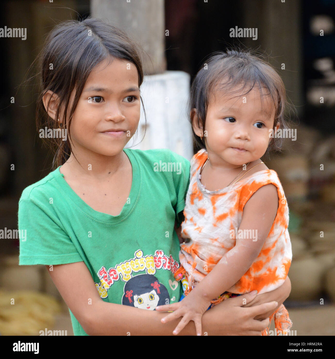 Les enfants du Cambodge Photo Stock