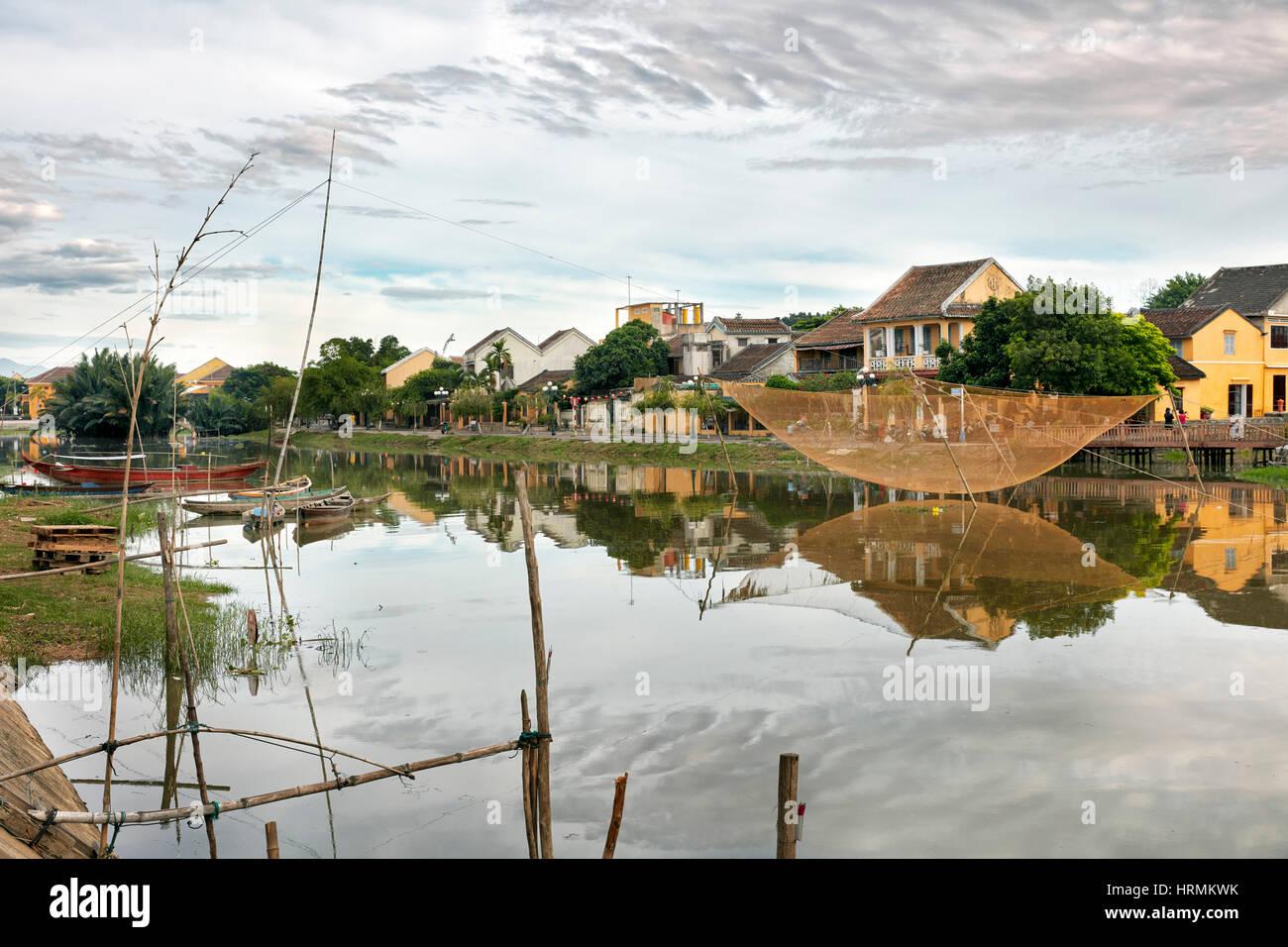 La rivière Thu Bon. Hoi An, Quang Nam Province, Vietnam. Photo Stock
