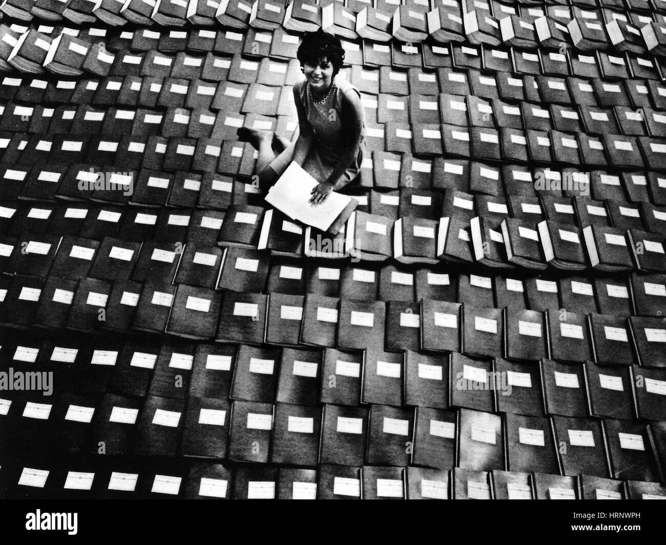 Les données de l'efficacité des médicaments, 1960 Photo Stock