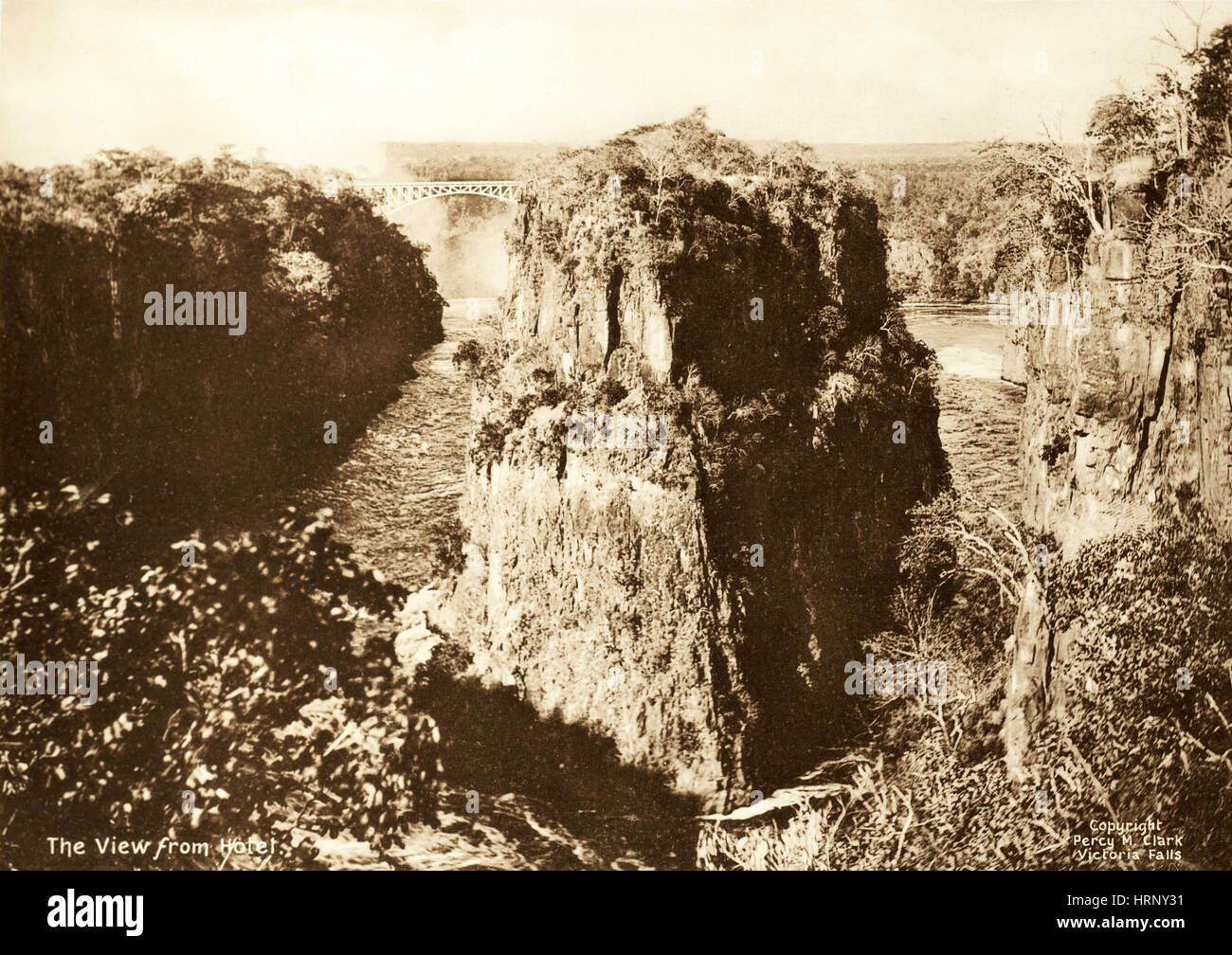 Chutes Victoria, 1906 Photo Stock