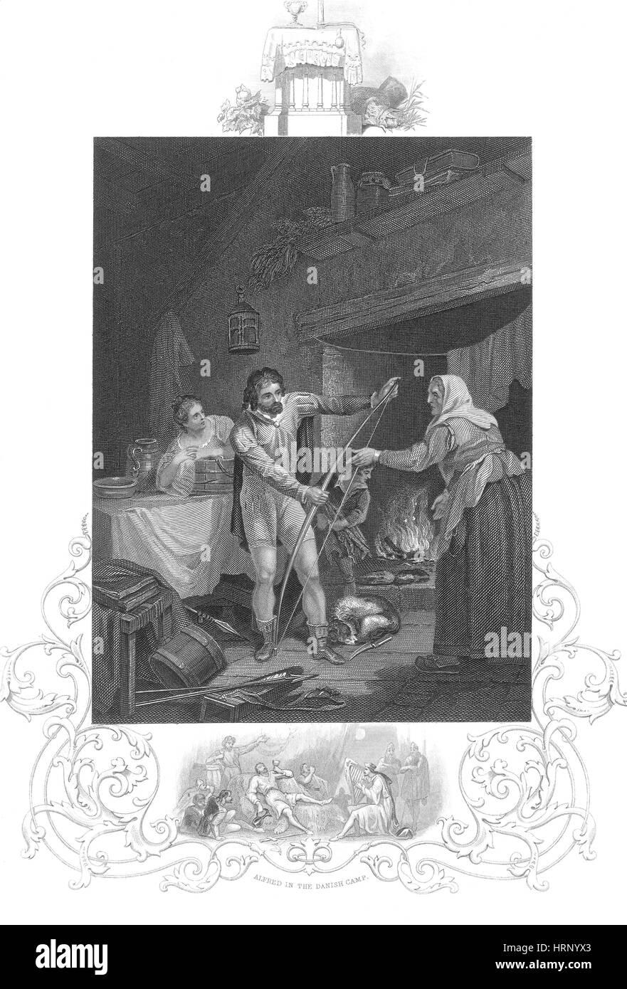 Alfred le Grand, Légende des gâteaux Photo Stock