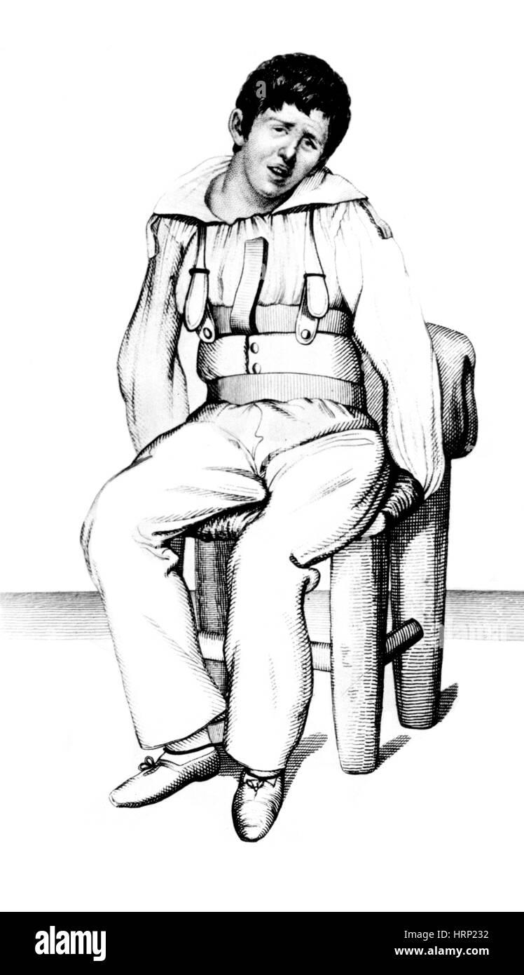 L'Esquirol Patient, idiot, 1838 Photo Stock