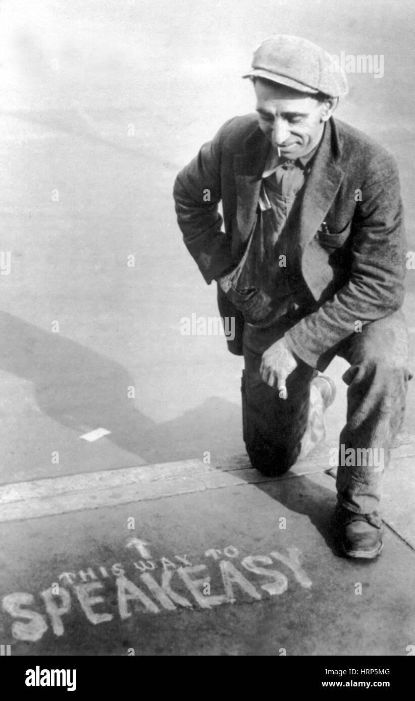 Interdiction, Speakeasy les directions, années 20 s-30s Photo Stock