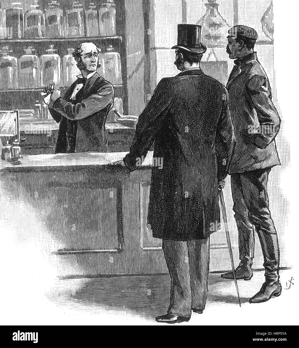 Pharmacien, 20e siècle Photo Stock