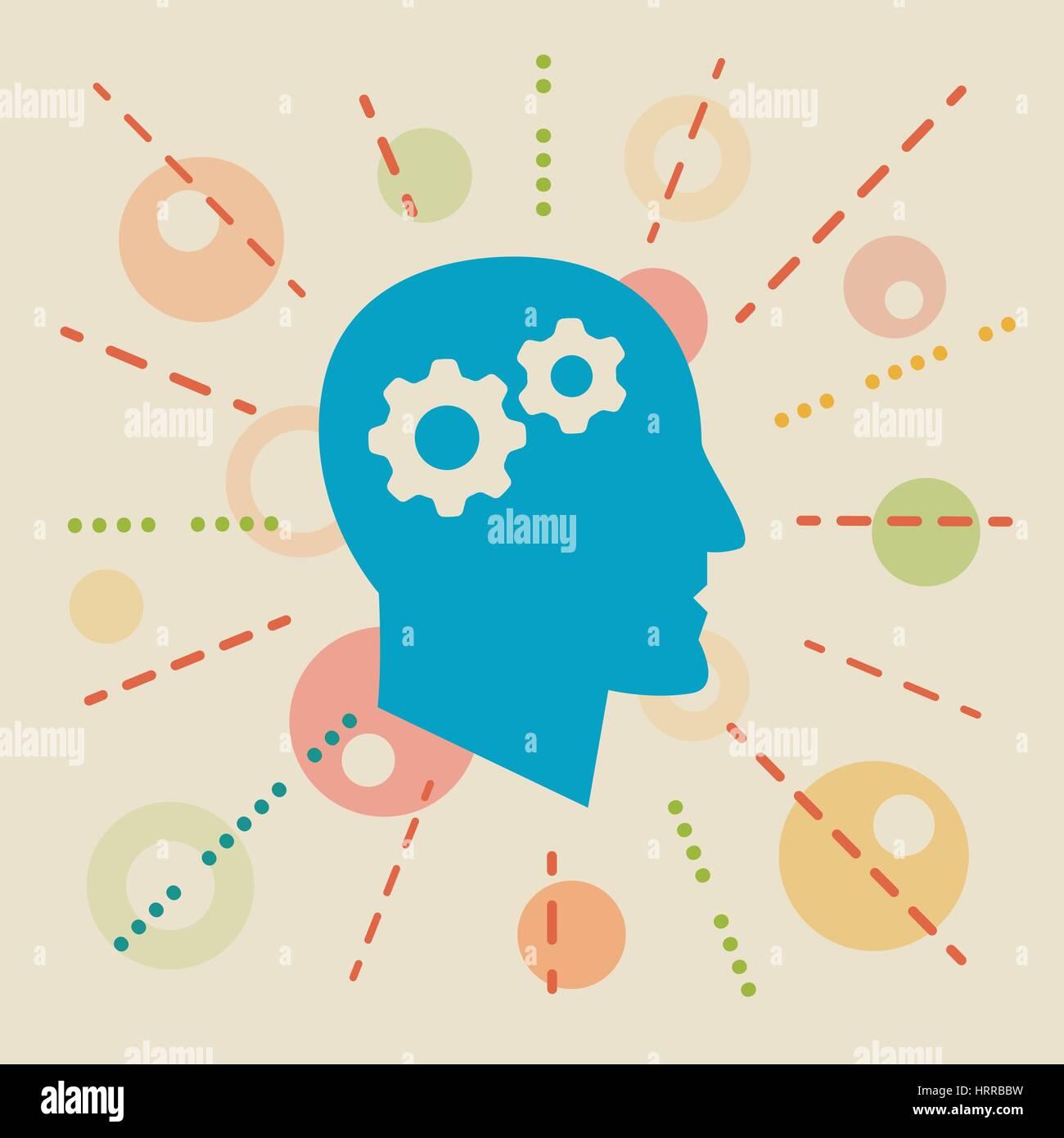 La connaissance. Concept illustration Photo Stock