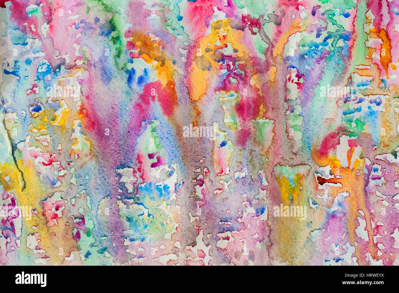 Charmant Aquarelle Abstraite Toutes Les Couleurs De La Peinture De Fond Arc En Ciel  à Pulvérisation, Taches, Des éclaboussures. Faites à La Main Sur Papier  Texture ...