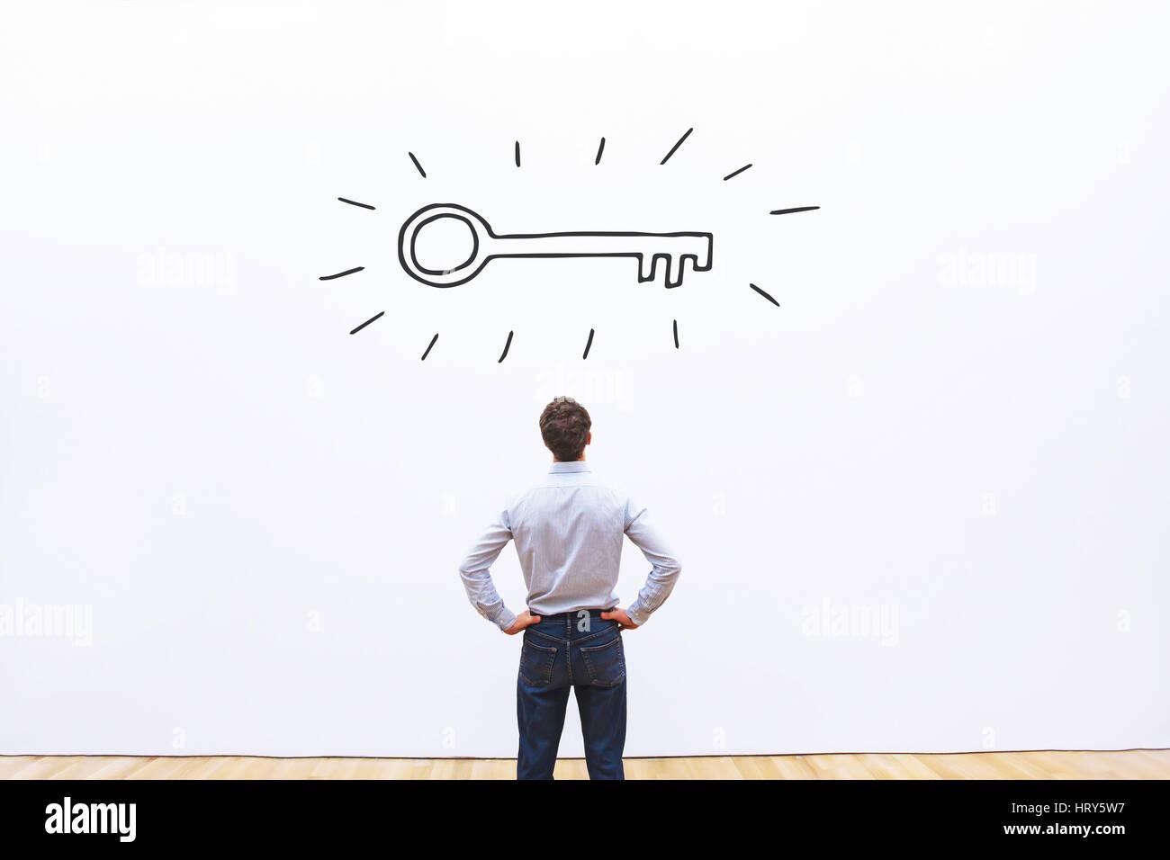 La clé du succès, occasion d'affaires ou concept de la solution Photo Stock