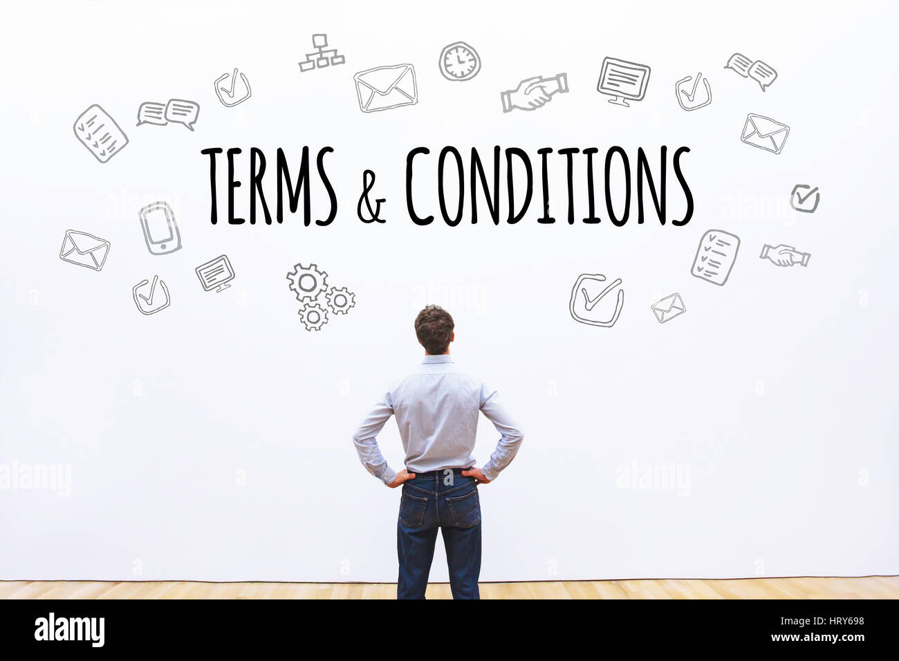Termes et conditions, mot concept background Photo Stock